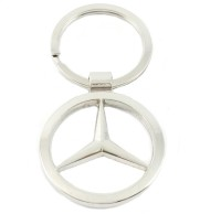 Rudham Mercedes Benz Logo Metal Car Ring Keychain (Silver)
