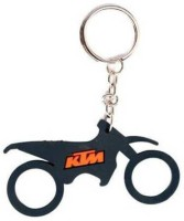 Accessory Bazar ABZR KTM Bike Shape Rubber Keychain (Black)