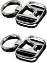 Indiashopers Honda Metallic Key Ring (Pack Of 2) Key Chain - Silver