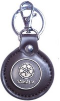 Aura Imported Faux Leather Yamaha Locking Keychain (Brown)
