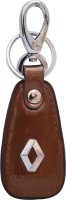 Zeroza Renault Leather Metal RT04 Locking Key Chain (Brown)