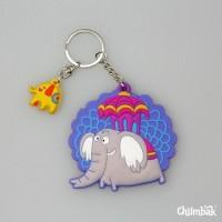 Chumbak Happy Elephant Key Chain Multi-color