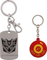 JLT Transformers Metal Premium Silver Locking Key Chain (Multicolor)