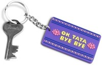 Happily Unmarried Ok Tata Bye Locking Key Chain (Blue)