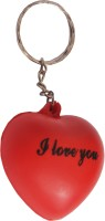 Indigo Creatives Valentine Romantic I Love You Red Heart Shaped Key Chain (Multicolor)