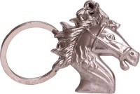Dealfinity Horse Face Full Metal DKYCN1379 Key Chain (Silver)