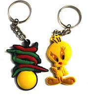 Tweety Aarti Creation Cute Tweety & Funky Nimbu Mirchi Combo Key Chain (Multicolor)