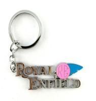 S2S Royal Enfield Silver Metal Keychain Key Chain (Silver)