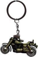SURAJ ENTERPRISES Royal Enfield Bike Shaped Metal Green Locking Key Chain (Green)