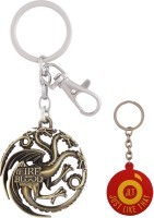 JLT Game Of Thrones Gold Metal Premium Locking Key Chain (Multicolor)