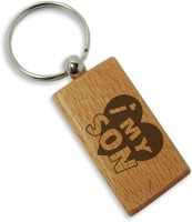 Tiedribbons I Love My Son Wooden Key Chain (Brown)