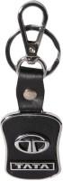 Oyedeal TATA Faux Leather Metal TA01 Locking Key Chain (Black)