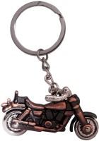 SURAJ ENTERPRISES Royal Enfield Bike Shaped Brown Colored Metal Key Chain (Brown)