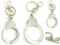Singh Xpress Combo Of 5 Dabang Mini Hand Cuff- Key Chain - For Car And Bike - Premium Quality - Tinker AccessoriesStainless SteelStandard- Pocket Size Challa With Locking Holder Locking Carabiner (Silver)