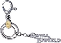 Oyedeal Royal Enfield Full Metal With Hook Locking Key Chain (Silver)