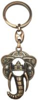 City Choice Cooper Taj Mahal With Elephant Head Key Chain (Copper)