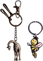 Oyedeal Bending Giraffe Bent Gate Key Chain (Multicolor)