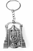 Tech Fashion Tirupati Balaji Metal Ring Keychain (Silver)