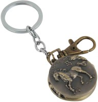 Kairos Designer Horse Pocket Watch Clock Keychain (Brown)
