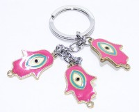 Aura Feng Shui Evil Eye Imported Protection Locking Keychain (Multicolor)