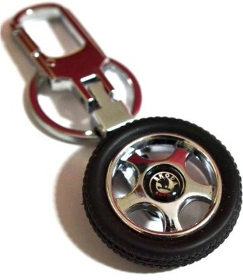 City Choice Skoda Wheel Locking Keychain
