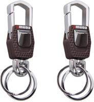 City Choice Combo Of 2 Omuda 3717 Locking Key Chain (Chrome & Brown)