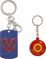 JLT Transformers Metal Premium Locking Key Chain (Multicolor)