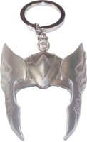 Prime Traders Thor Helmet Silver Metal Locking Key Chain (Multicolor)