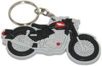 Aura Royal Enfield Bullet Bike Shape Rubber Locking Keychain (Multicolor)