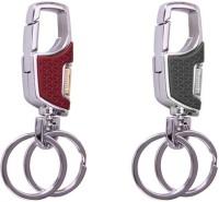 City Choice Omuda 3718 Brown & Black Hook Locking Key Chain (Brown , Black & Chrome)