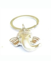 Shop & Shoppee Ganesha Metal Ring Curved Gate Key Chain (Silver)
