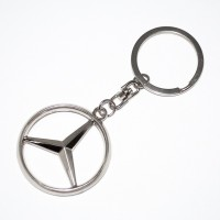 Prime Traders Mercedes Emblem Car Logo Locking Key Chain (Black)
