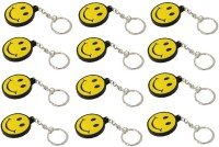 Ezone Simple Smiley Yellow R_pack Of 12 Key Chain (Yellow)