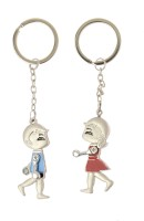 Kairos Couple Hand Key Chain (Silver)