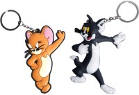 Confident SET OF 02 High Quality TOM And JERRY Key Chain (Multicolor)