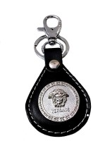 FCS Leather Metal Versaace Locking Key Chain (Multicolor)