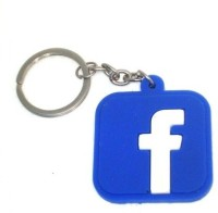 TAG3 High Quality Facebook FB Logo Silicon For Car Bike Key Chain (Blue)