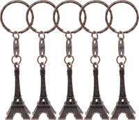 E'loisa Eiffel Tower Black Key Chain (Black)