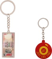 JLT 1000 Rupees Note Keychain Locking Key Chain (Multicolor)