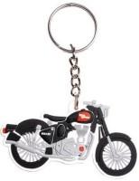 CTW Royal Enfield Bike Shape Rubber Key Chain (White)