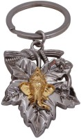 Confident MVP223 Metal Ganesha Design God Key Chain (Silver)