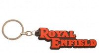 Aura Royal Enfield Silicon Imported Locking Keychain (Red, Black)