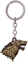 SURAJ ENTERPRISES Winter Is Coming Metal Key Ring Of Golden Stark For Cars And Bikes Key Chain (Golden)
