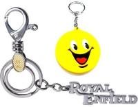 Ezone Locking Metal Royal Enfield With Smiley Locking Carabiner (multicolor)