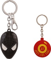 JLT Spiderman Mask Metal Premium Locking Key Chain (Multicolor)