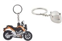 Chainz Ktm Duke Bike Shaped Rubber And Metallic 3D Helmet (Multicolor)