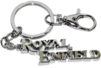 24x7shop Imported Royal Enfield Chrome Plated Key Chain (Silver)
