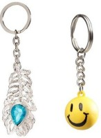 Chainz Oh My God And Smiley Ball Keychain (Multicolor)