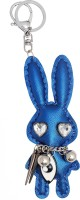 Super Drool Crystal Bunny Key Chain (Blue)