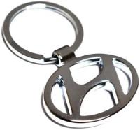 Amor Hyundai Logo Metal Car Keychain Key Chain (Silver)
